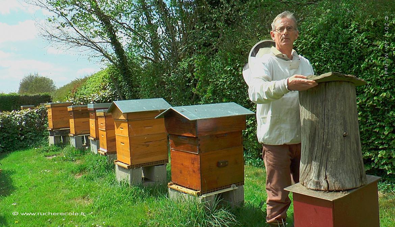 Jaques Hue, apiculteur en ruche Dadant