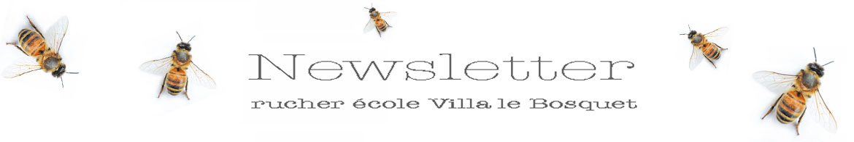 newsletter rucher école Villa le Bosquet