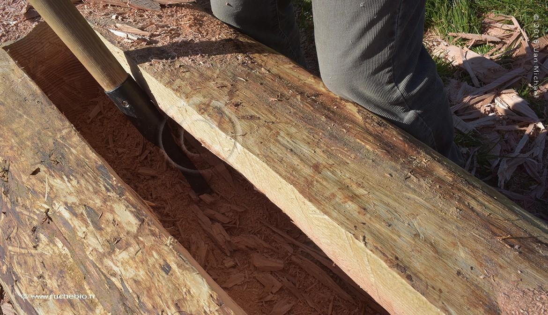 construction d'une ruche tronc