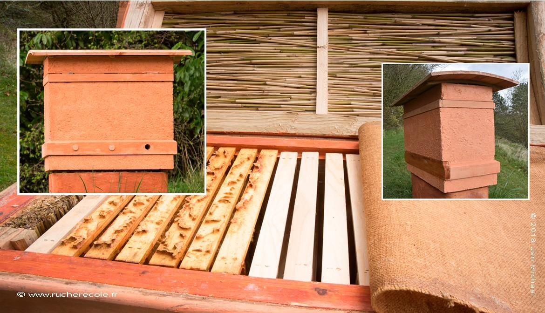 ruche horizontale Mellifera par rucher école Villa le Bosquet