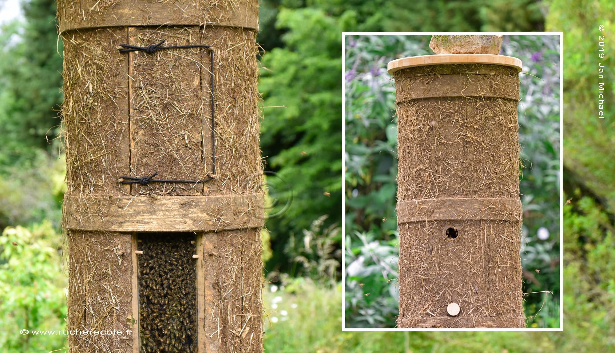 C'est en bonne compagnie que Jan, fondateur du rucher-école, s'est initié à la fabrication de ruches alternatif...